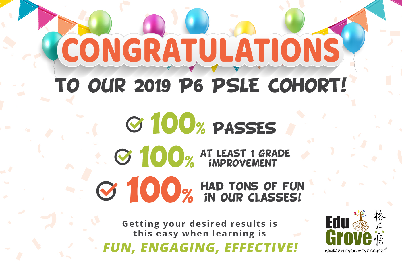 Congratulations to EduGrove students' Great Results!